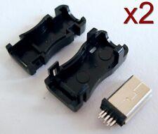 2x Connecteur à souder Mini USB 10 broches + boitier / Box Connector 10 pins