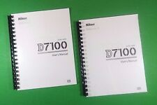 Nikon D7100 Camera 384 Page LASER PRINTED Owners Manual Guide