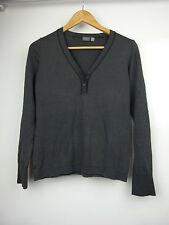 ESPRIT Jumper/top Knit style Sz M, 10, 12 Grey white stripe