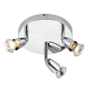 Saxby Amalfi Triple Head GU10 Spotlight Swivel Ceiling Mounted Dimmable Light