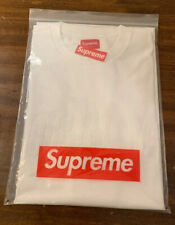 SUPREME CHENILLE ARC LOGO S/S TOP, WHITE FW19 AUTHENTIC SIZE XLARGE IN HAND NEW