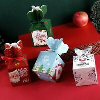 10pcs 2020 NEW Christmas Party Paper Apple Favour Candy Sweets Boxes Gift S2Z9
