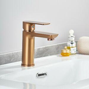 Square Bathroom Brass Basin Mixer Tap Vanity Flick Faucet Black WaterMark
