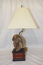 Bombay Monkey See No Evil, Hear No Evil, Speak No Evil Wood Base Table Lamp
