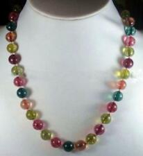 8mm Multicolor Tourmaline Gemstone Round Beads Necklaces 20'' AAA