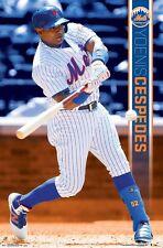 YOENIS CESPEDES - NEW YORK METS POSTER - 22x34 MLB BASEBALL 15776