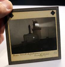 More details for belle tout lighthouse beachy head antique photo magic lantern slide #2108