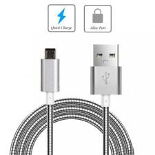 3FT METAL MICRO USB CABLE FAST CHARGER POWER CORD SYNC WIRE For PHONES & TABLETS