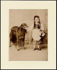 HOVAWART DOG AND GIRL LOVELY LITTLE DOG PRINT