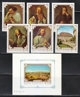 Romania 1970 MNH Mi 2897-2902+Block 79 Sc 2218-2224 paintings by Gonzales Coques