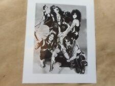 "KISS PRESS KIT GLOSSIE PHOTO # 8  8"" X 10"" BLACK & WHITE WITH SEMI NUDE MODEL"
