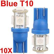 X T10 LED 5SMD 5050 Blue W5W 168 Car Light Bulbs 12Volt Wedge Tail Side BRIGHT