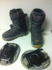 Head Snowboard boots with Tyrolia step in X4 Clicker bindings Size 8 26.0 men