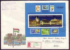 Ungarn  R - Brief  mit  MiNr. Block 159 B