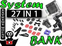 Montage-Zubehör Gelenkset Halterungen für SONY ACTION CAM HDR-AS200V HDR-AS200VR