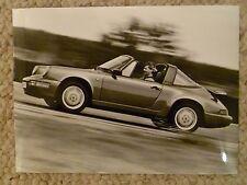 "1990 Porsche 911 Carrera 2 Targa B&W Press ""Werkfoto"" Photo Factory Issued RARE!"