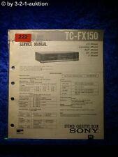 Sony Service Manual TC FX150 Cassette Deck (#0222)