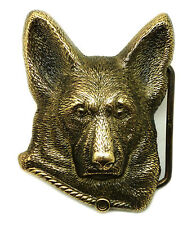 Alsation Belt Buckle Brass Dog Animal German Shephard Authentic Baron Buckles