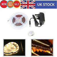 2m 5050 LED Strip Lights PIR Motion Sensor Stairs Cabinet Lamp Home Warm White