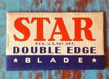 Vintage STAR DOUBLE EDGE RAZOR BLADE single blade