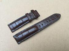 Crocodile Leather Watch Strap Band 20mm/18mm Genuine Dark Brown Alligator