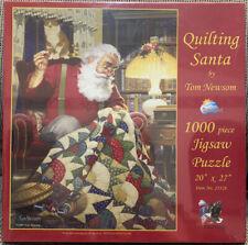 New Quilting Santa By Tom Newsom Christmas Jigsaw Puzzle 1000 Piece 20x27 23328