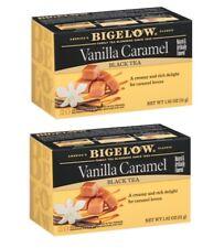 Bigelow Vanilla Caramel Black Tea - 2 Boxes - 40 Tea Bags