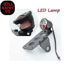 LED Side Mount License Plate Tail Light Fit for Harley Chopper Bobber Cafe Racer