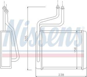 HVAC Heater Core Front Nissens 71744