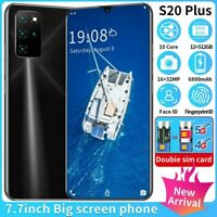 5G Android S20Plus 7.7in 12+512GB FingerprintFace ID Unlocked Smartphone 10 Core