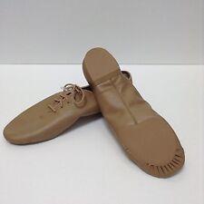 Capezio Dance Jazz Shoes Tan Oxfords Lace up Womens Size 13.5 Split Sole NEW