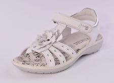 Primigi Aura Niñas Sandalias De Cuero Blanco Riptape UK 10 EU 28 nos 10.5 RRP £ 39.00