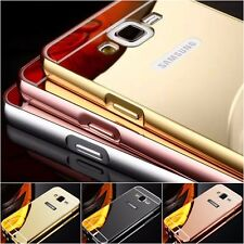 New Luxury Aluminum Metal Mirror Case PC Back Cover Skin For Samsung Galaxy
