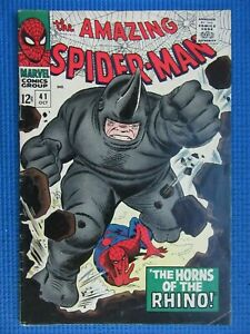 AMAZING SPIDER-MAN # 41 - (FINE) - 1ST APPEARANCE OF THE RHINO - AUNT MAY