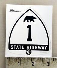 California Highway 1 Old Retro PCH sticker