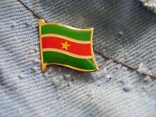 Pin Suriname Flagge Wappen Surinam Sranantongo Sranan Südamerika Paramaribo A