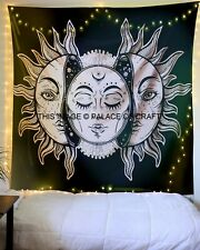 Sun & Moon Indian Queen Wall Hanging Tapestry Bedspread Bedding Throw Gypsy Boho