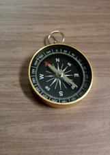Nautical Compass Pendant Working Compass Rose Gold Black Steampunk Large 1 5/8
