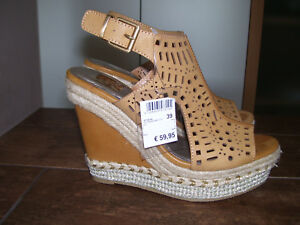 Bullboxer Schuh 510000T1L Braun Damen Echtleder Sandale super weiches Fußbett