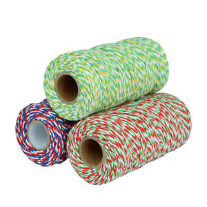 Cotton Baker's Twine 2 Ply Multi-color Scrapbooking Package Wrap Gift Wrap M122