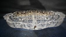 "Cambridge Glass Co. #3625 _ ""Chantilly"" 2 part relish dish"