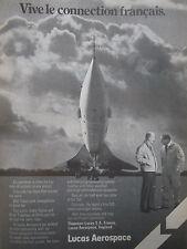 1/1976 PUB LUCAS AEROSPACE THOMSON CONCORDE TURCAT TRUBSHAW FRENCH CONNECTION AD