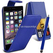 Azul Funda Libro Funda Pu Funda Piel Cartera para Iphone 6 6S