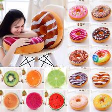 3D Plüsch Donut Früchte Kissen Taille Boden sofa-sitz RUND Sessel Pad Dekor