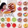 3D Plush Donut Fruit Cushion Soft Pillows Round Seat Chair Pads Home Sofa Decor
