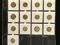 Australian $2  Coloured Coin Collection  (13 Coins) EF to a/UNC