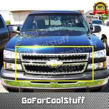 For 2006 Chevy Silverado 1500 Upper Black Steel Wire Mesh Grille Silver Rivets