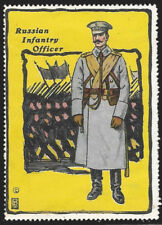 1915 Picture Poster Publishing Russian Infantry Officer poster stamp