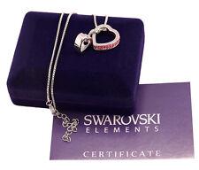 Collana donna argento Swarovski Elements originale G4Love cristalli doppio cuore
