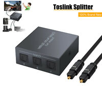 1 Digital Optical Toslink to 3 SPDIF Audio Splitter + 3.3ft Optical Cable 100mA